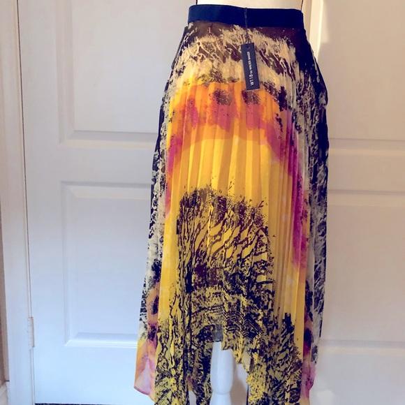 Chiffon terry skirt